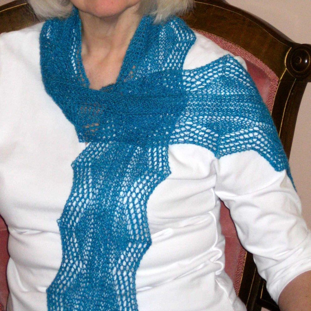 Scallops Lace Scarf title=