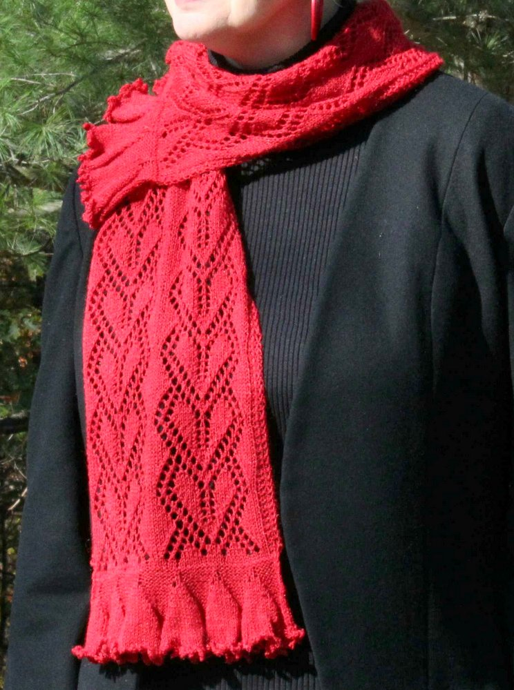 Sweetheart Lace Scarf title=