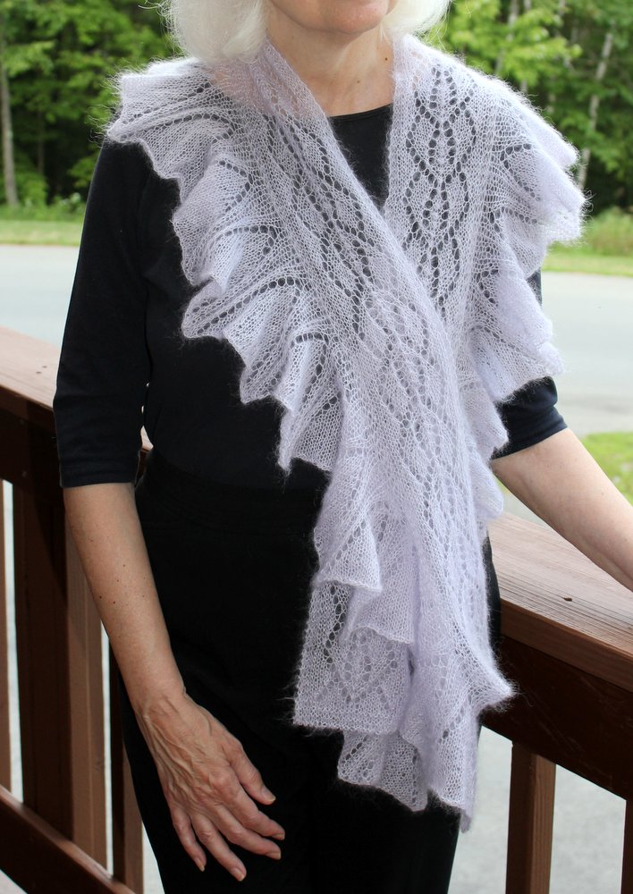 Wild Orchid Ruffled Lace Scarf title=
